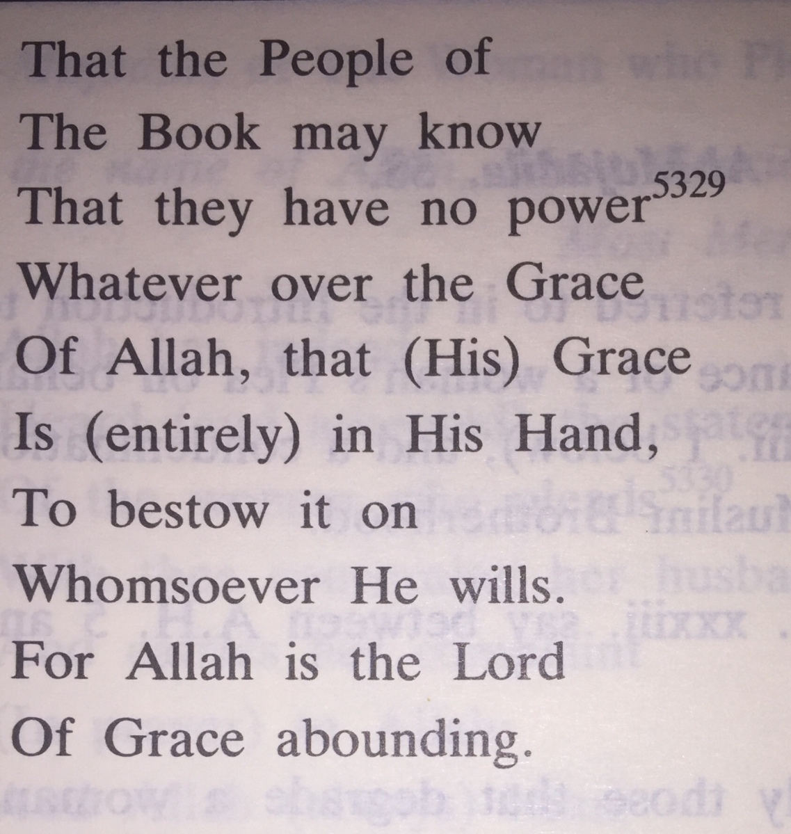 Grace in Islam