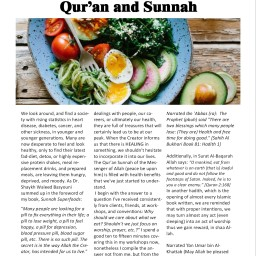 Seeking Medicine in the Qur'an and Sunnah – By Noor H. Salem