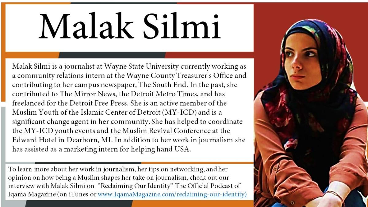 Muslim American Journalist, Malak Silmi